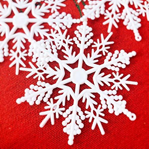 Beurio 6 Vintage Christmas Tree Ornaments Yard Snowflake Hanging Decorations, 6ct