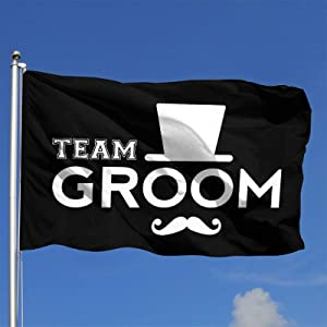 TQPTGD Team Groom Outdoor Flag Home Garden Flag Banner Breeze Flag USA Flag Decorative Flag 4x6 Ft Flag