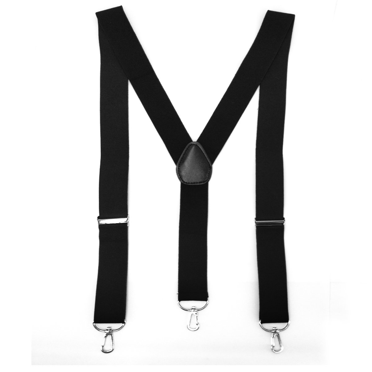 Utop Suspenders for Men Elastic Y-back 3 Clips Button Convertible Ends Adjustable (3 clips convertible-end)