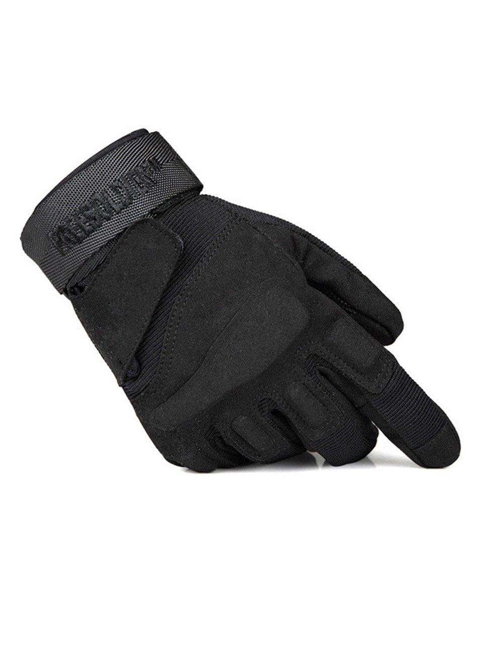 Free Soldier Herren-Handschuhe, Outdoor, Wandern, Radfahren, Camping, ganze Finger ganze Finger S schwarz NanjingYebao