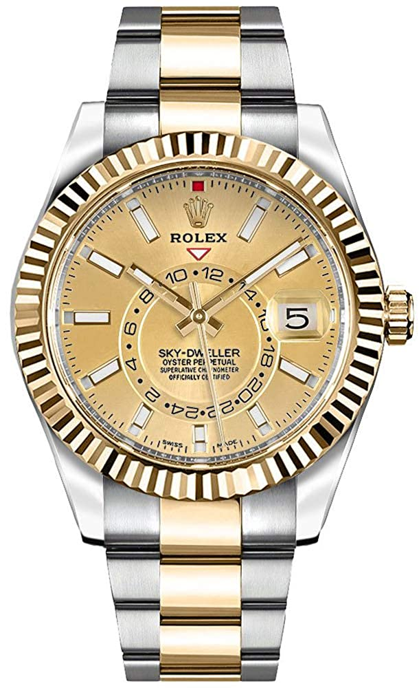 Amazon.com 326933 , Rolex Sky,Dweller Gold \u0026 Steel Mens