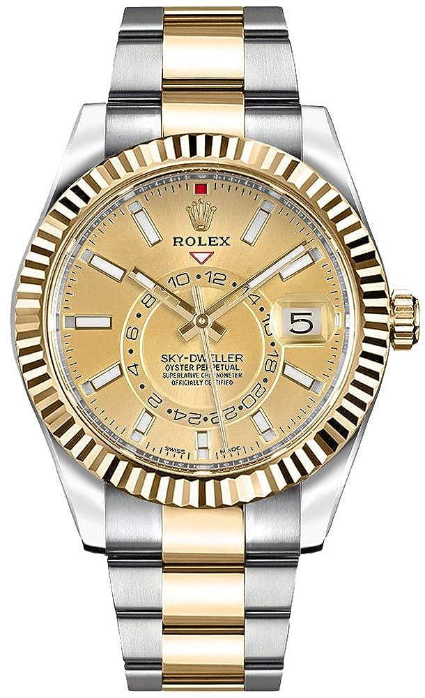 Amazon.com 326933 , Rolex Sky,Dweller Gold \u0026 Steel Mens