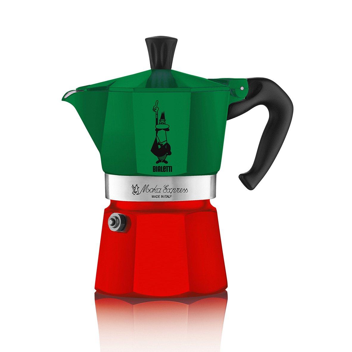 Bialetti 0005323 6-Cup Espresso Stovetop Coffee Maker, Tricolore, Tricolore