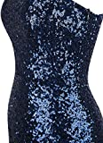 Angel-fashions Women's Asymmetric Ribbon Gradual Sequin Mermaid Long Prom Dress