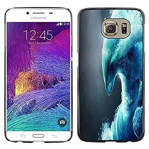 Be Good Phone Accessory // Dura Cáscara cubierta Protectora Caso Carcasa Funda de Protección para Samsung Galaxy S6 SM-G920 // Abstract Wave Monster