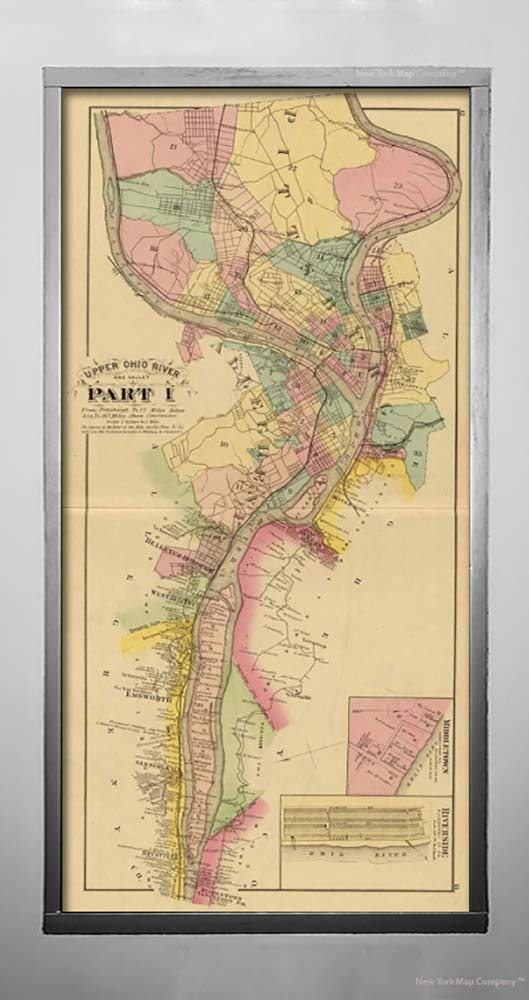Amazon Com 1877 Map Regional Atlas Upper Ohio River Valley Part I