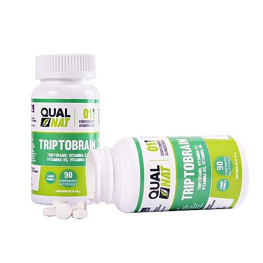 Triptófano con vitamina B6, vitamina B3 y vitamina B5 para ayudar al estado de ánimo y conseguir un sueño reparador - 90 comprimidos masticables con sabor a ...