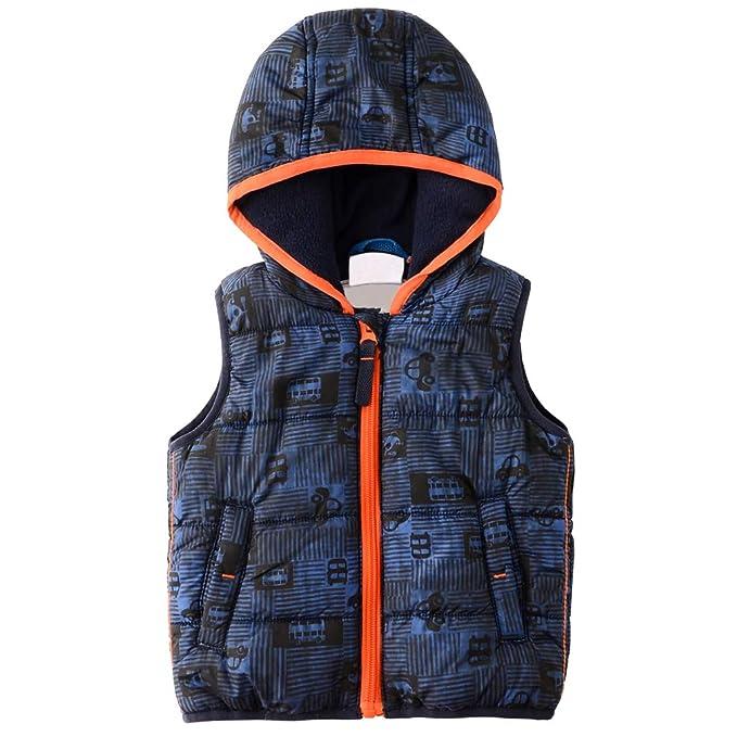 8fab54c6e84278 Amazon | 中綿コート ベスト フリース 子供服 フード付き ダウンベスト ボーイズ 可愛い 秋冬 ベビーベスト アウター コート 御寒 軽量  保温 お出かけ | ベスト 通販