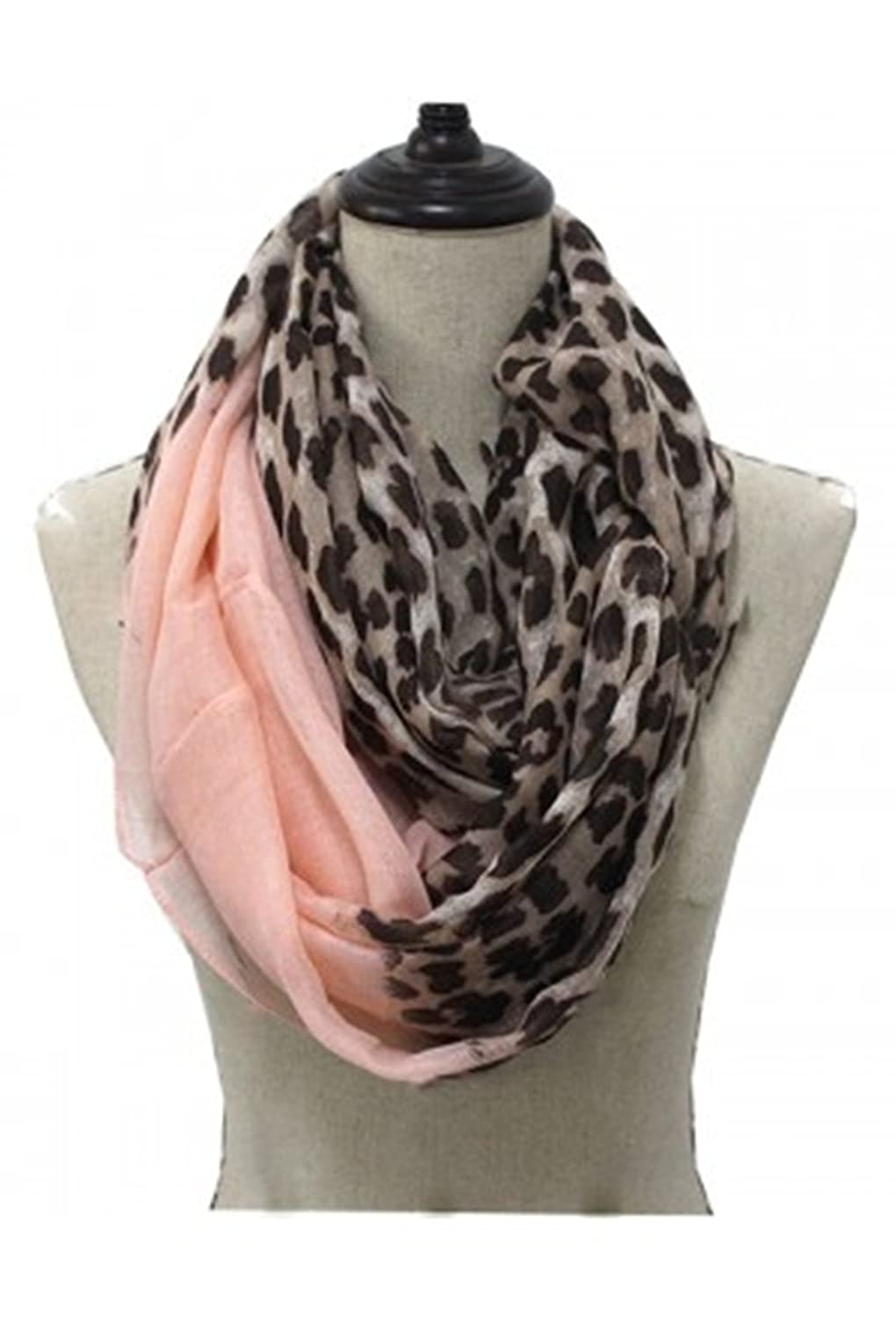 Fashionable Spring Infinity Scarves Polyester L PINK