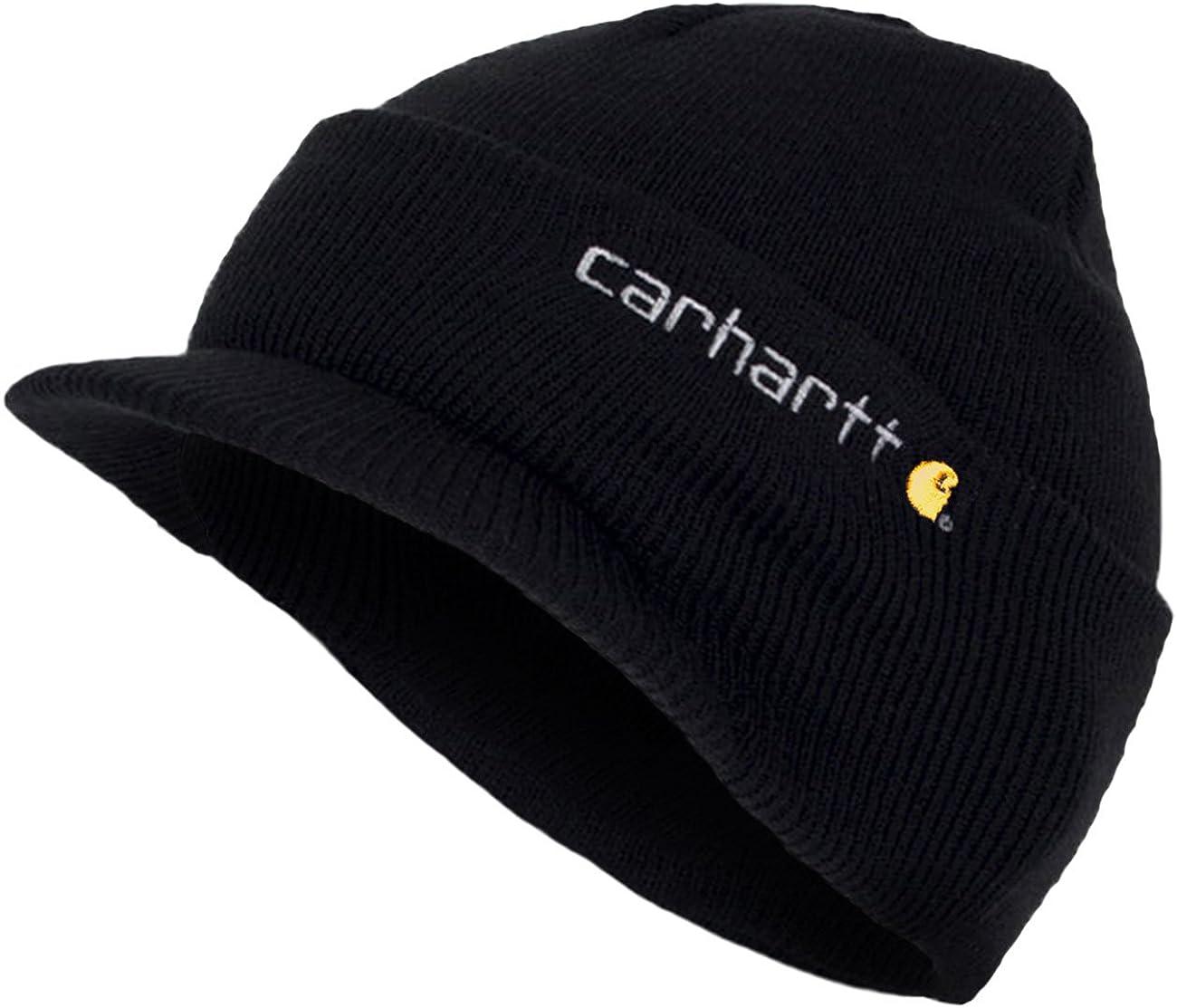 Nero CHA164BLK Beanie Peak Cappello CHA164BLK Cuffia a Maglia con Visiera Carhartt