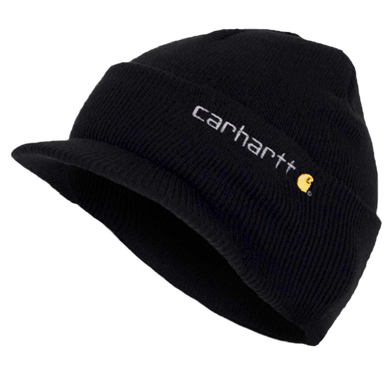 Carhartt - Cuffia a Maglia con Visiera - Nero CHA164BLK Beanie Peak Cappello CHA164BLK