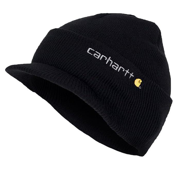 Carhartt - cuffia a maglia con visiera - Nero CHA164BLK Beanie peak cappello  CHA164BLK-Universal  Amazon.it  Abbigliamento 409f704762b1
