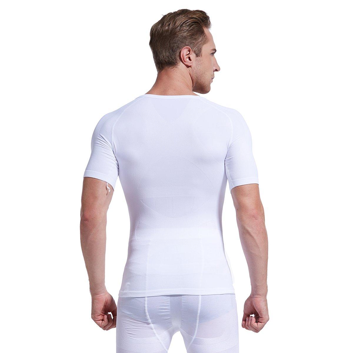 Hoter Mens Slim and Tight Super Soft Compression & Slimming Shaper V-Neck T-Shirt by HÖTER (Image #6)