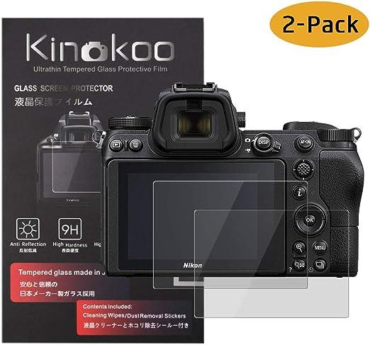 2 Pack kinokoo Tempered Glass Film for Nikon Z 6//Z 7 Crystal Clear Film Nikon Z6 Z7 Screen Protector Bubble-Free//Anti-Scratch