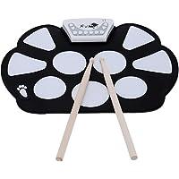 Easy-Link Batería Electrónica Drum Kit Silicona Plegable Drum Pad Instrumentos de Música con Palillo de Tambor y Pedal para Regalo / Juguete Musical / Entretenimiento