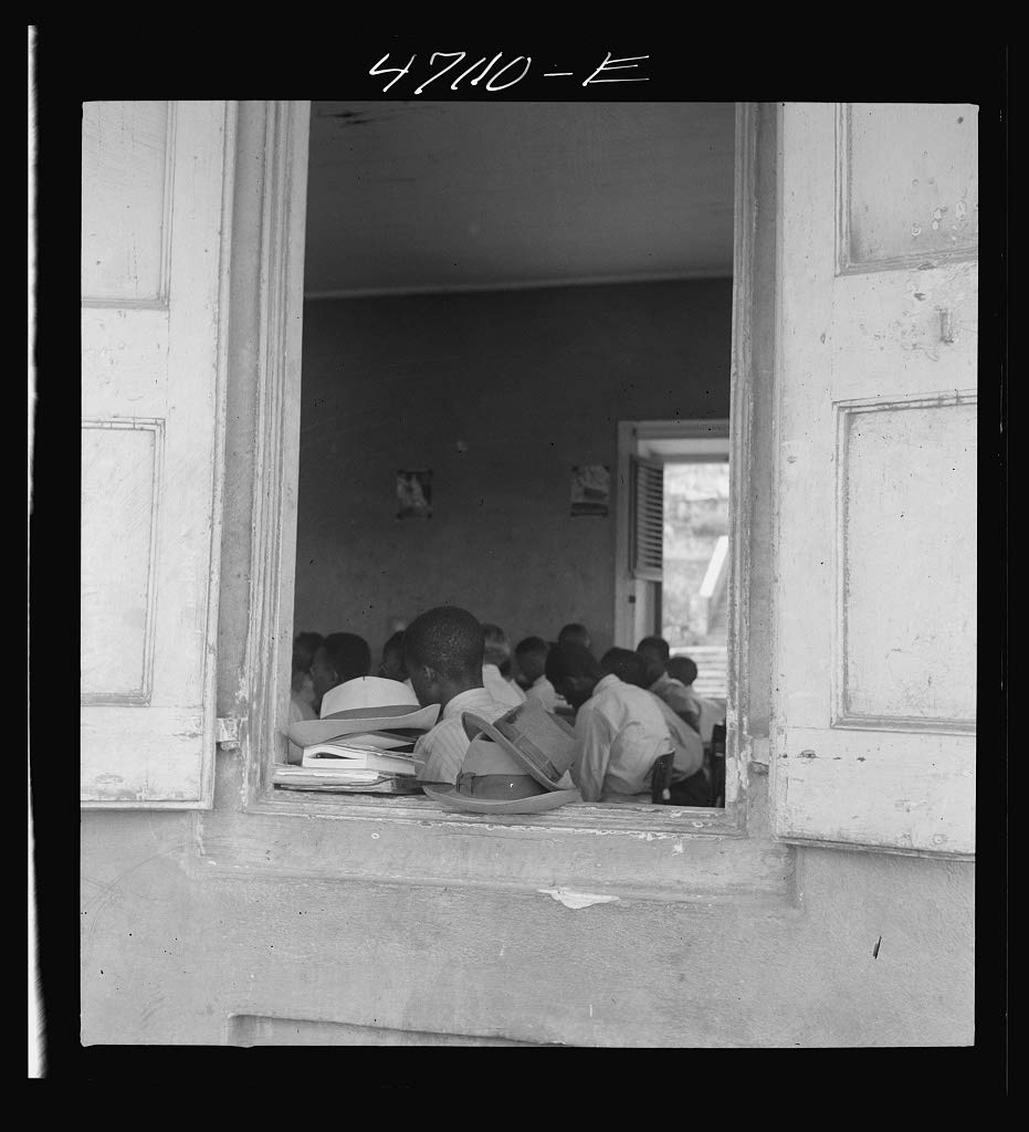 Reproduced Photo of Christiansted, Saint Croix Island, Virgin Islands. at a Window of The Christiansted high School 1941 Delano C Jack 02a
