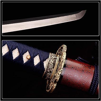 siwode Handmade Katana,Paint Blade,Copper Tang,High Carbon Steel,40-Inch