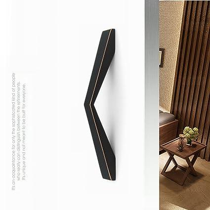 Tiny Fin 2PCS Black Titanium Finish Modern Cabinet Hardware Pull Handle  Europe Anti Fingerprint Kitchen