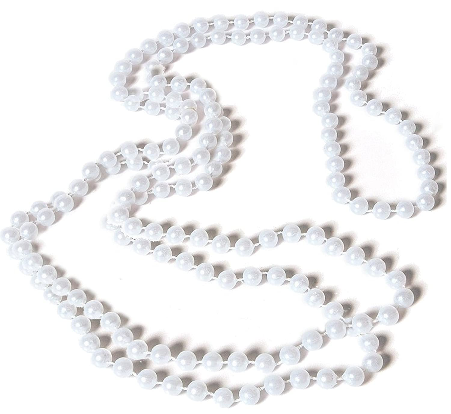 Rubies Costume White Flapper Necklace Image 1