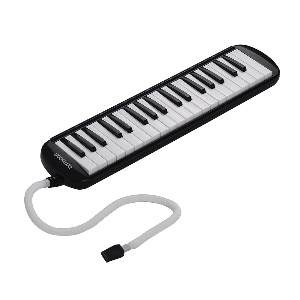 ammoon 37 Key Melodica Instrument with Carry Case for Music Lovers Beginners-Black by ammoon (Image #9)