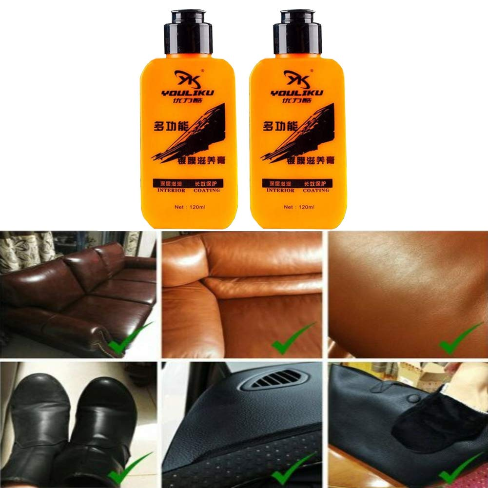 Multifunctional Sofa Leather Refurbishing Cleaner Cleaning Cream Restorer Repair Color To Faded And Scratched Leather For Furniture Auto Car Leather Polish Cleaning Cream Repair Tool 2 pack by Rebecca