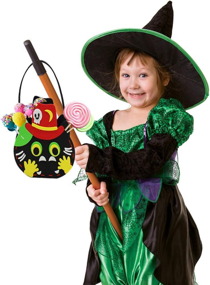 la f/ête dhalloween Feelava Panier de Bonbons dhalloween 6 pi/èces Sac /à Main Halloween Candy Sacs de Bonbons en Feutre Halloween Sacs Goody Sacs-Cadeaux pour Les Enfants Les Enfants