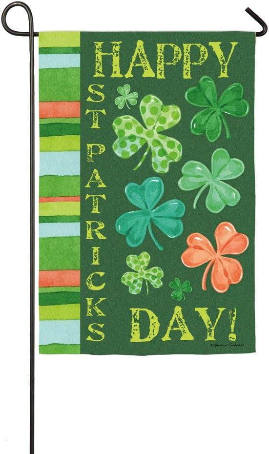 Evergreen Flag Happy St. Patrick's Day Shamrock Garden Flag