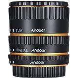 Andoer® Colorido Metal TTL Enfoque Automático Macro AF Tubo de Extensión Anillo para Canon EOS EF EF-S 60D 7D 5D II 550D Dorado