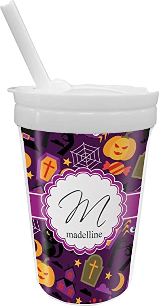 halloween sippy cup with straw personalized