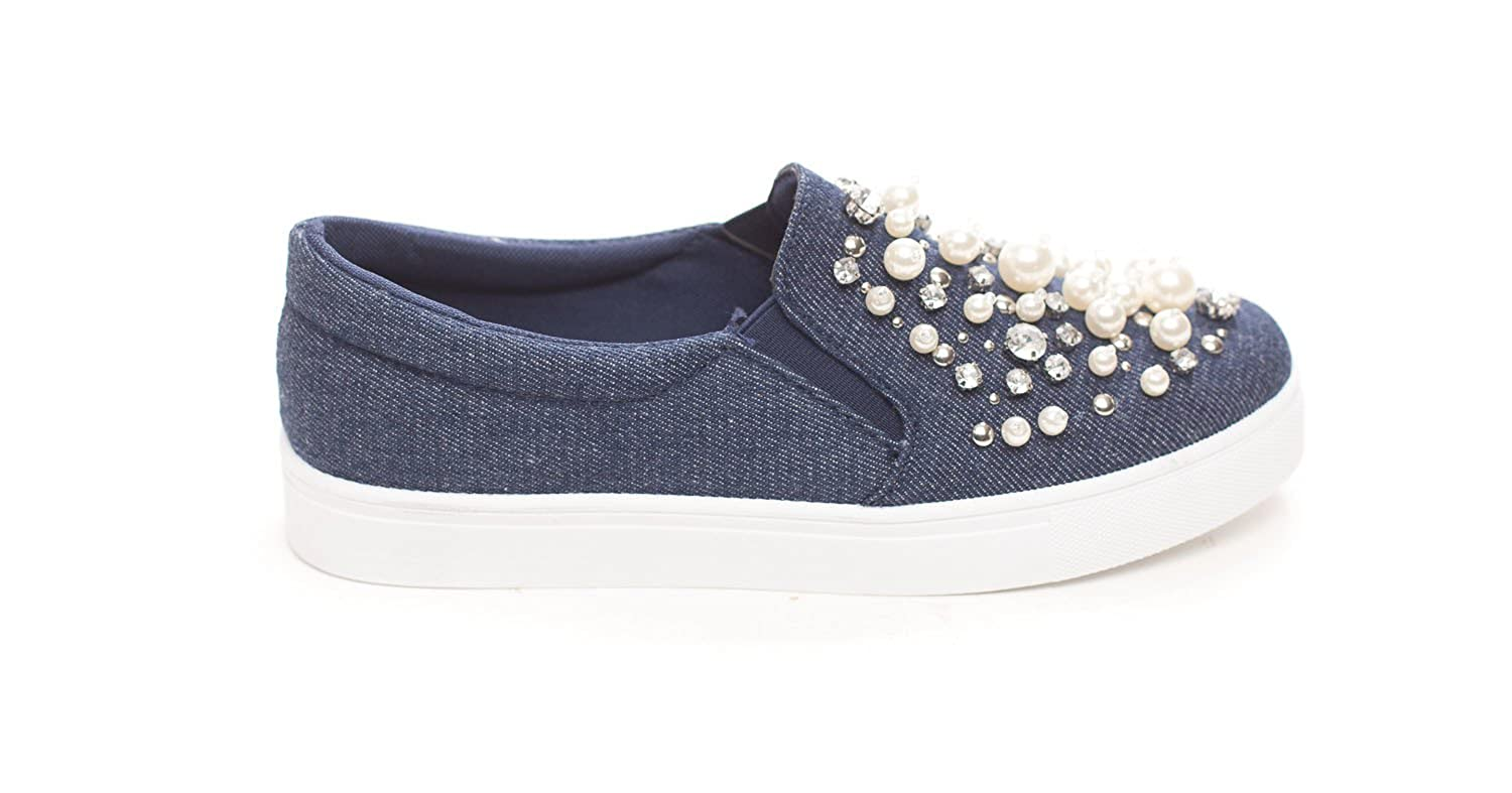 Soho Shoes Women's Platform Slip On Pearl Sneaker by Soho Shoes