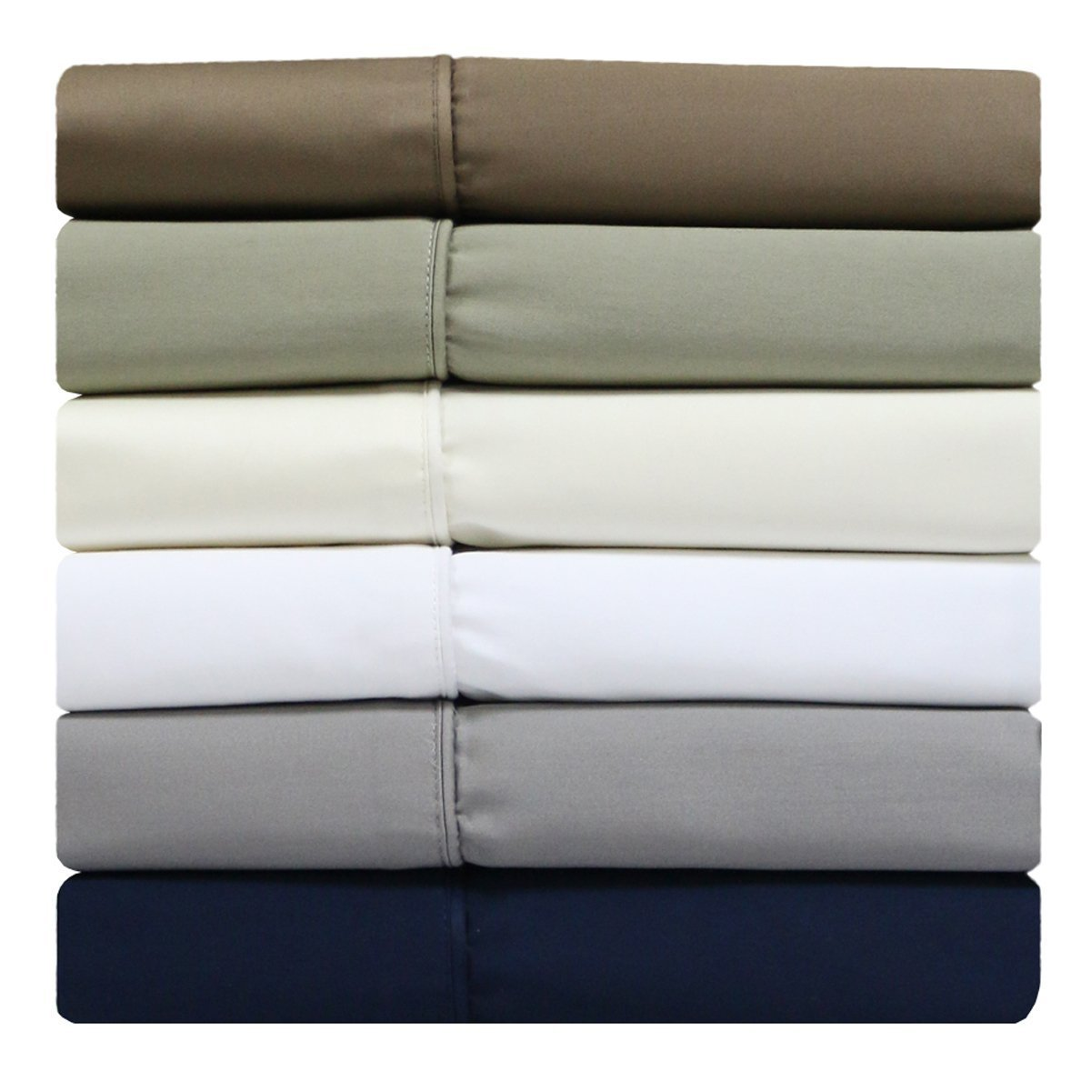 sheetsnthings 100% Cotton Split-Top-California King (Adjustable Cal King Bed Size Sheets) 300TC, Solid Taupe, Sateen Weave, Deep Pocket, 4PC Bed Sheet Set