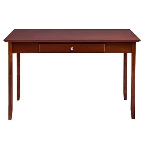 Amazon.com: GHP - Mesa consola de madera de nogal y madera ...