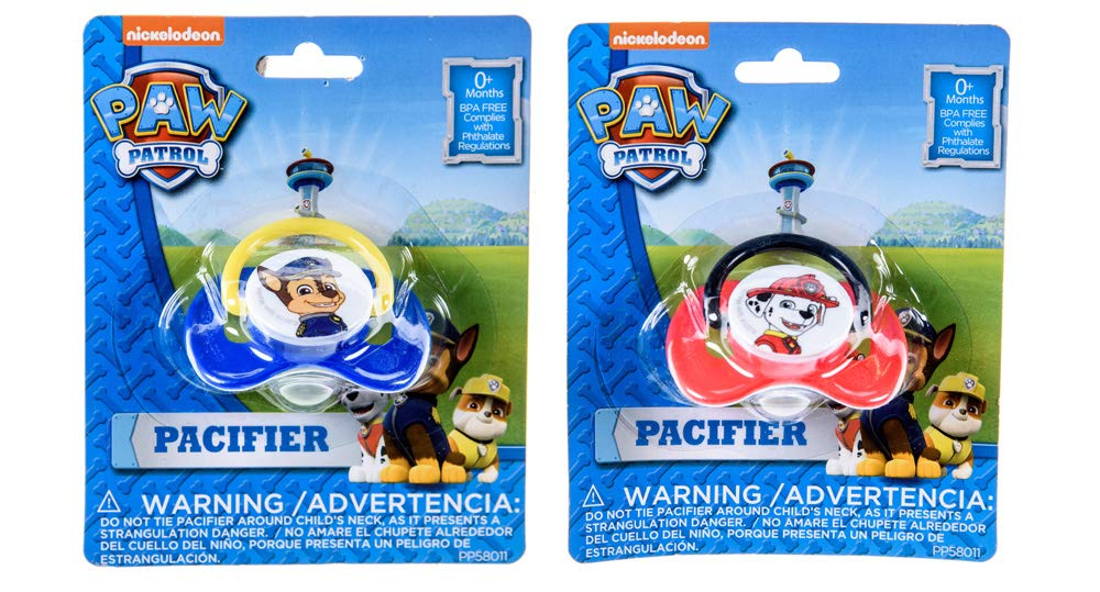 Amazon.com : Paw Patrol Pacifier BPA-Free 2 Count Pacifiers for Baby ...