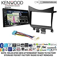 Volunteer Audio Kenwood DNX574S Double Din Radio Install Kit with GPS Navigation Apple CarPlay Android Auto Fits 2003-2007 Accord