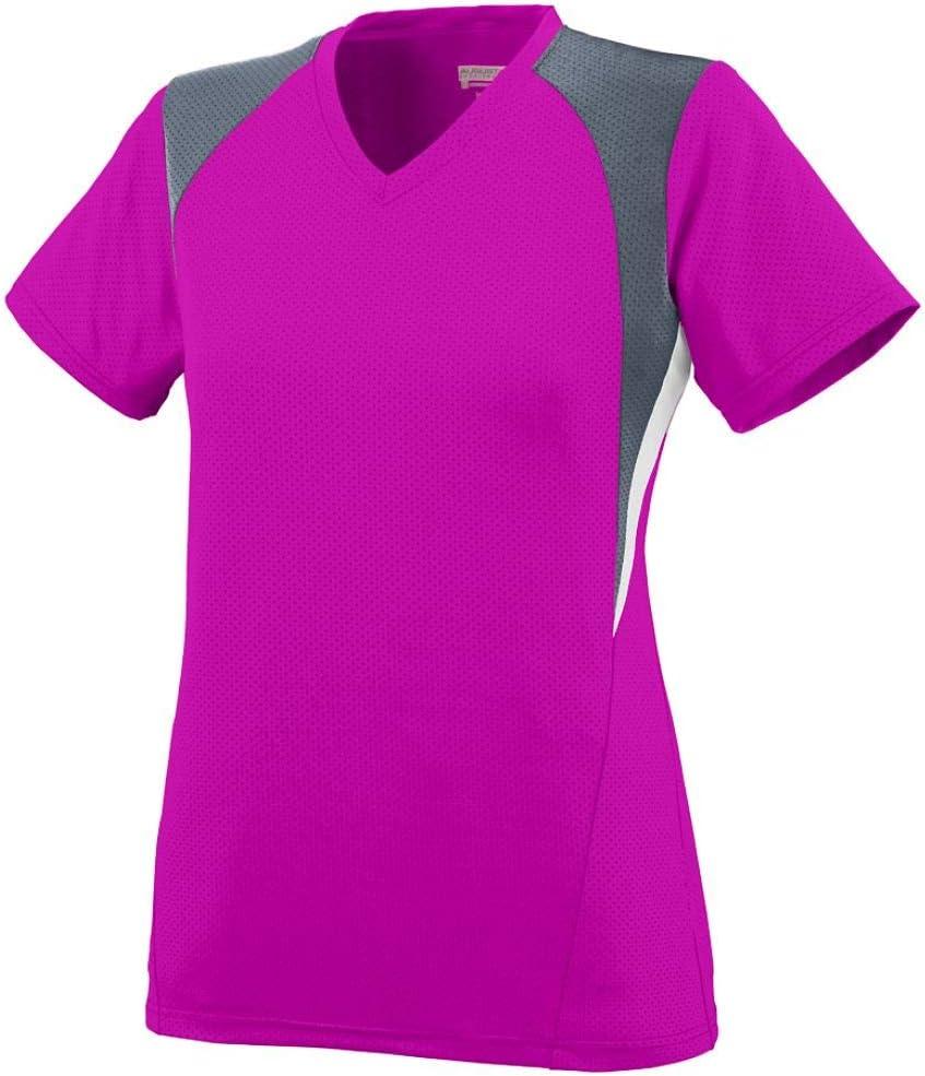 Augusta Sportswear Girls' Mystic Jersey M Power Pink/Graphite/White