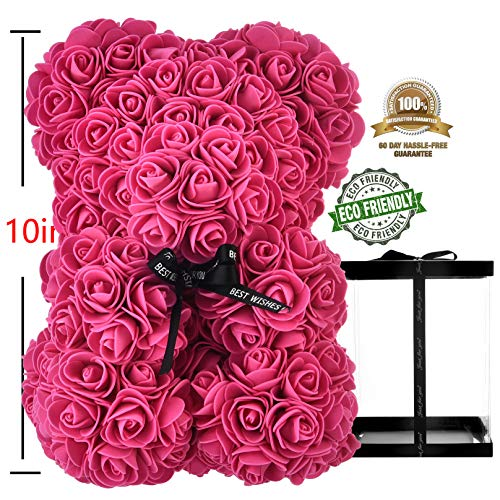 Rose-Teddy-Bear-Rose-Bear-Rose-Bear-Teddy-Bear-Rose-Flowers-Teddy-Bear-Gifts-for-mom-Women-Her-Teen-Girls-Gifts-Mothers-Gifts-Anniversary-Birthday-Valentine-Day-Rose-Bear-with-Box-red