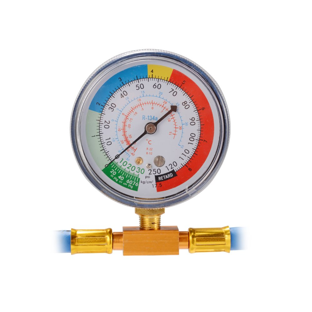 XCSOURCE R134A Refrigerant Recharge Hose Car Air Conditioning Measuring Gauge Tap Valve with 1//2 M14 Brass Fitting MA1274