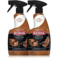 Weiman Leather Cleaner and Conditioner - 16 Ounce - 2 Pack - Use On Your Couch Chair Purse Wallet Shoes Boots Saddle…