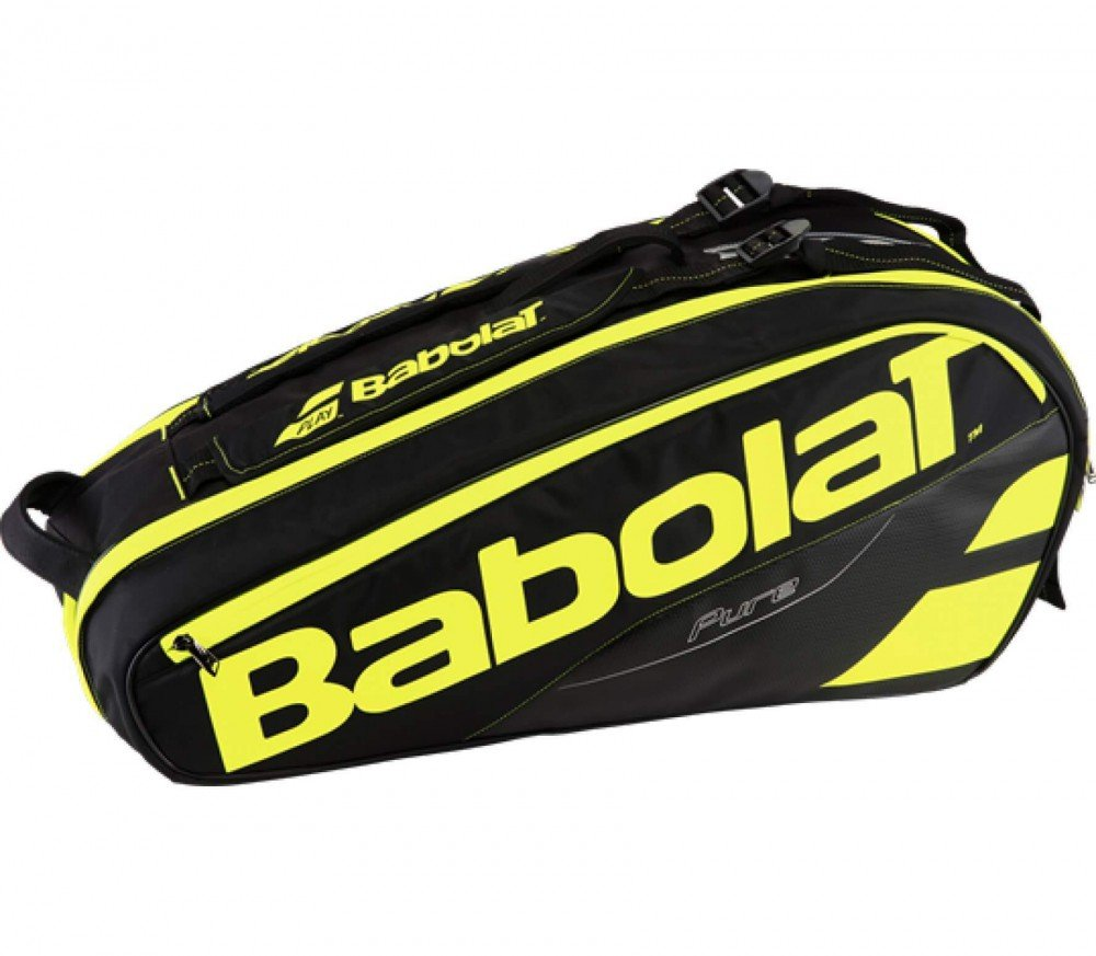 Babolat 2018 Pure 6 Racquet Tennis Bag (Yellow/Black)