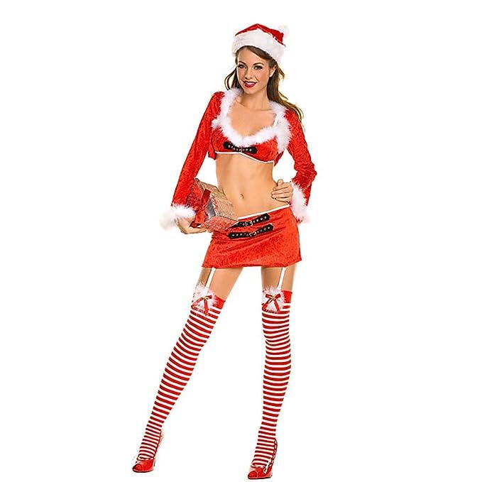 92e2322d855 VENI MASEE Women s Sexy Secret Santa Costume Mrs Miss Christmas Santa Fancy Dress  Costume Outfit