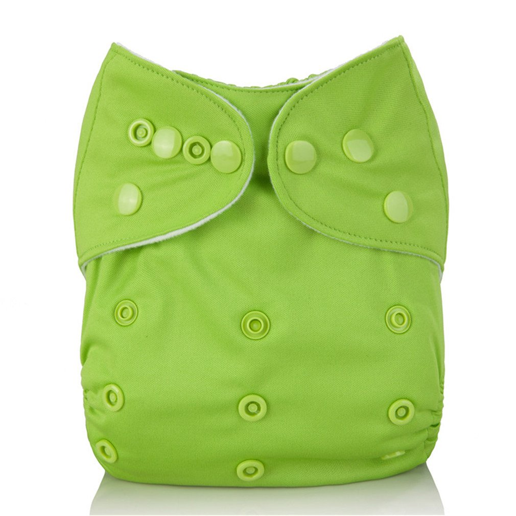 Reusable Baby Cloth Diaper Washable Solid Color Baby Nappy One Size Adjustable Many Colors Available Cloth Diapers 201 with 1 insert