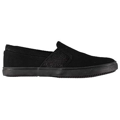 Miso Taylor Damen Slipper Schuhe Sneaker Turnschuhe Elastische Einsätze Schwarz/Schwarz 4 (37) RePDjJy1