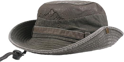 Fan-Ling visera bordada de algodón puro, sombreros de malla ...