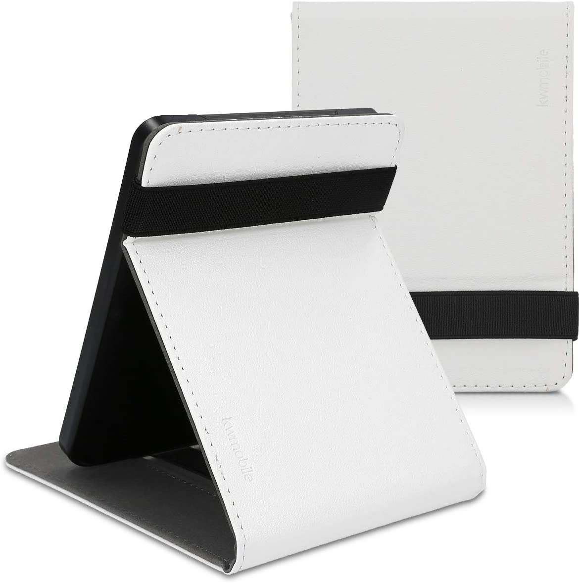 Case with Strap Black kwmobile Cover Compatible with Kobo Clara HD Stand