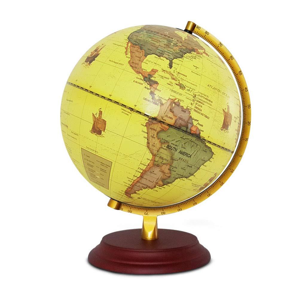 ChenYongping World Globe Mappamondo da 25 cm - Decorazione Desktop educativo geografico Moderno gravità educativa