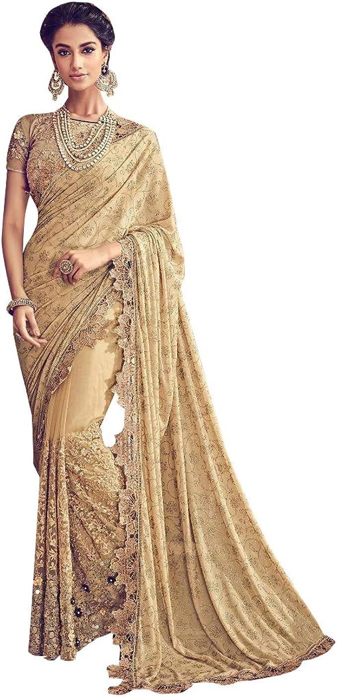Bridal New Bollywood  Party Ethnic Saree Wedding Indian Designer Evening Sari