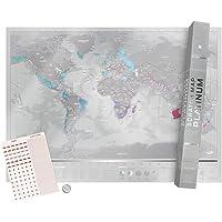 Luckies of London Ltd Scratchable Map Wall Map (LUKPLAT)