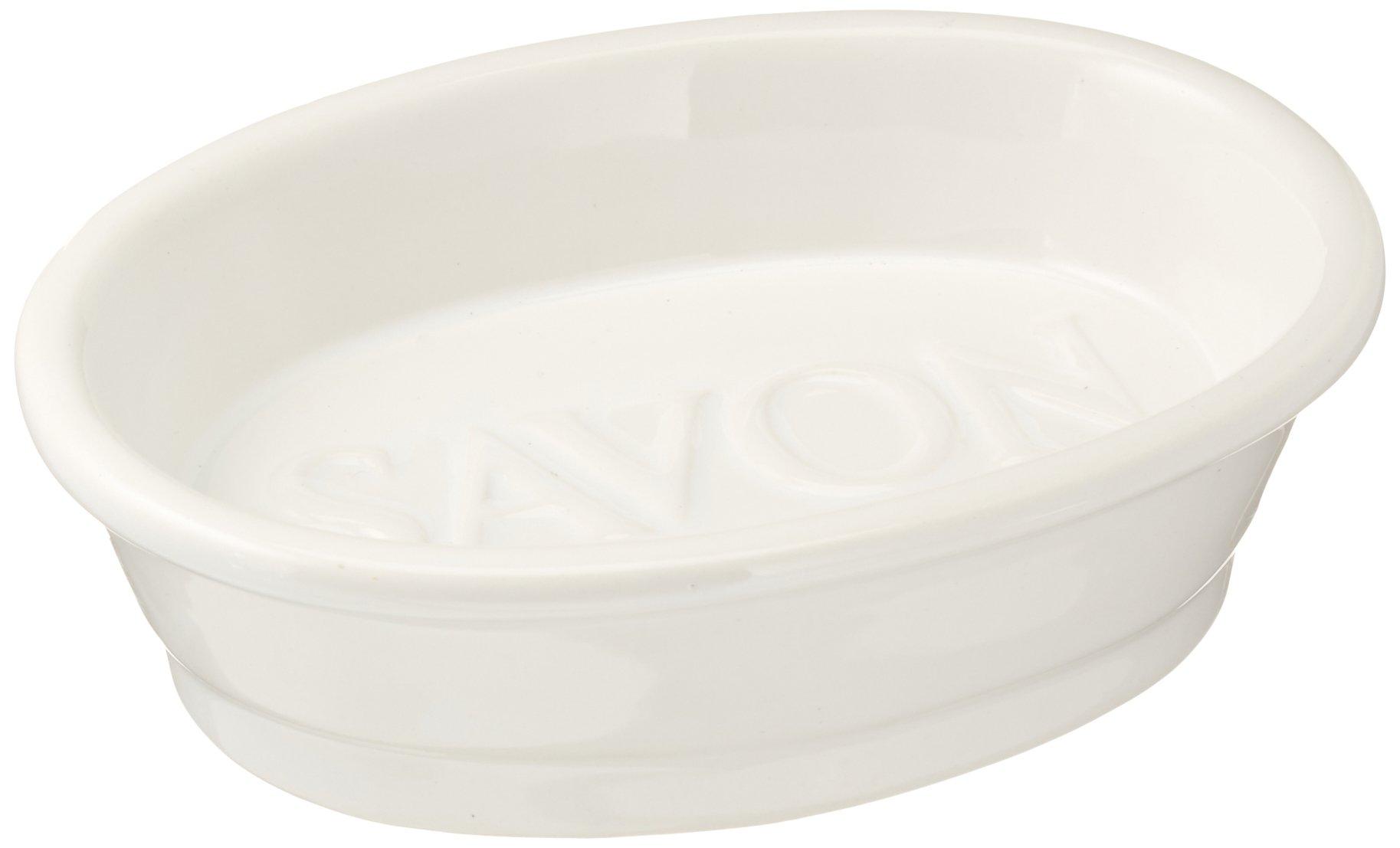 Abbott Collection White Oval Savon Dish
