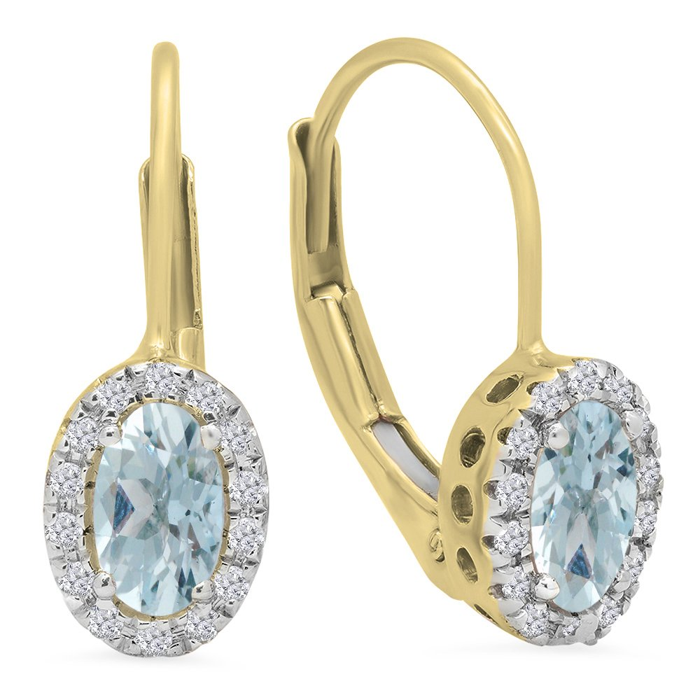 Natural Sapphire 1.75Grams 14k Solid Yellow Gold Dangle Lever-back Earrings