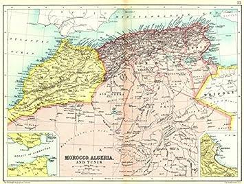 Tunesien Karte.North Africa Mahgreb Marokko Algerien Tunesien Einsatz